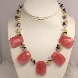 Natural Stone Statement Necklace